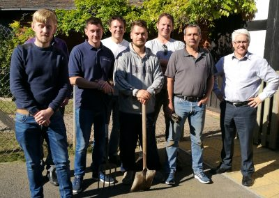 SSE volunteers gardening at 4Sight Vision Support