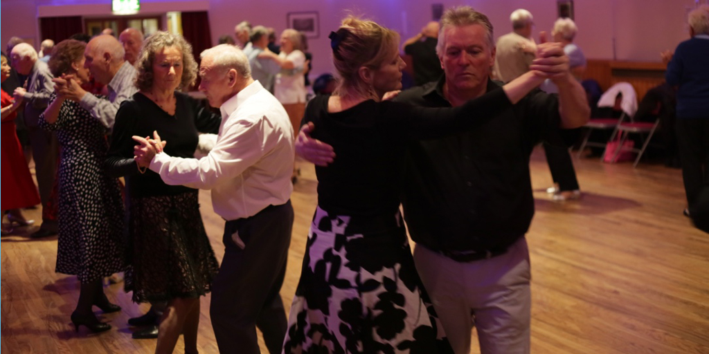 Supporters dancing at our Tea dance