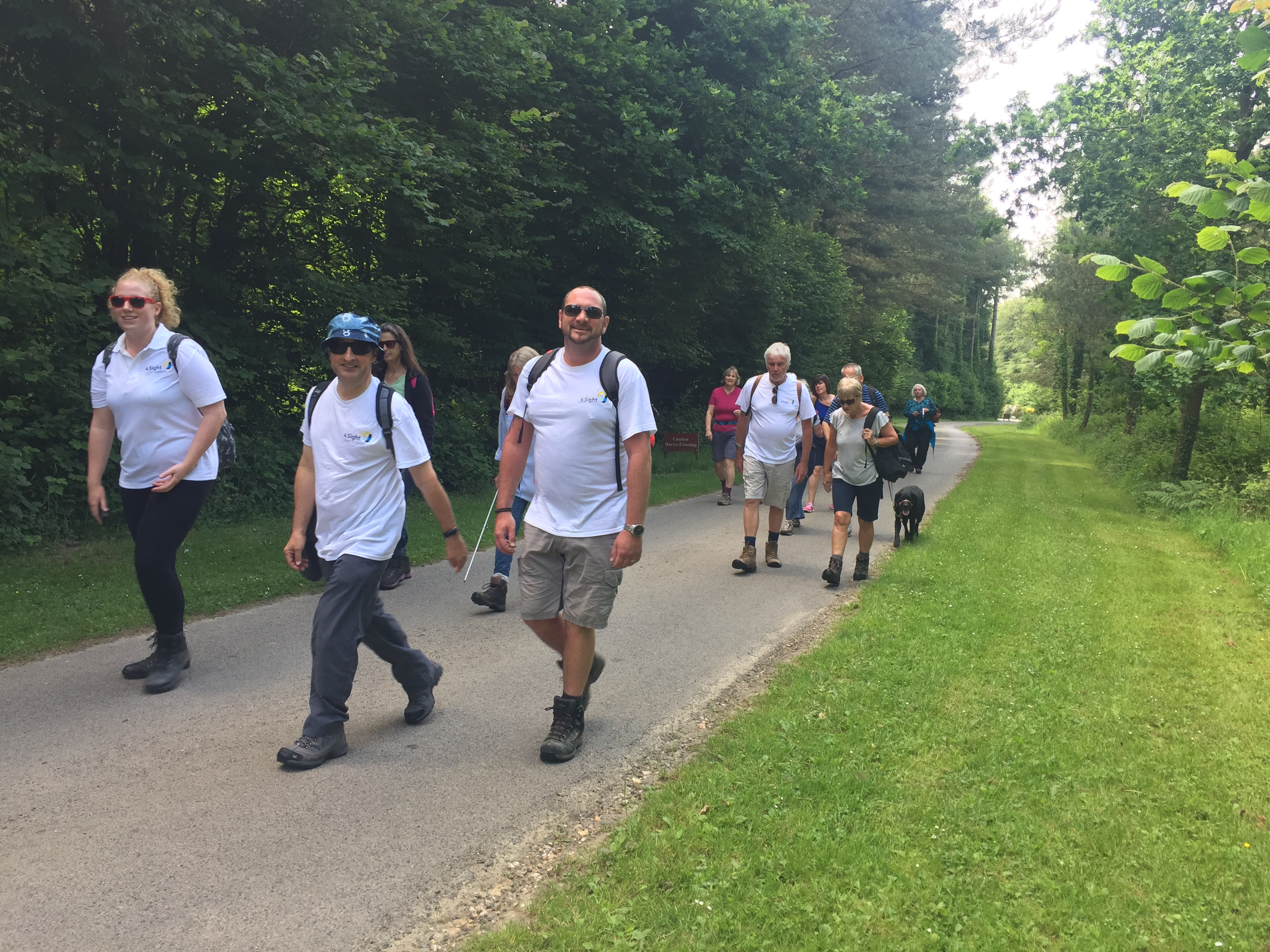 Angmering Ramble Participants 4Sight Vision Support