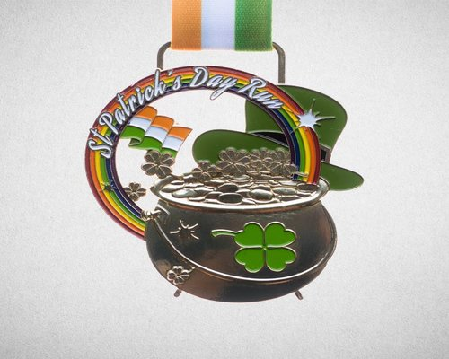 patricks day run medal