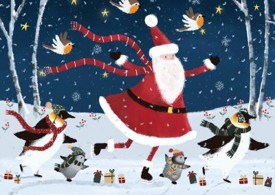 Skating with Santa