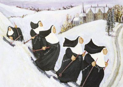 Skiing Nuns